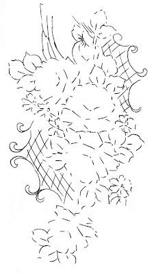 Riscos de flores para pintura em pano de prato