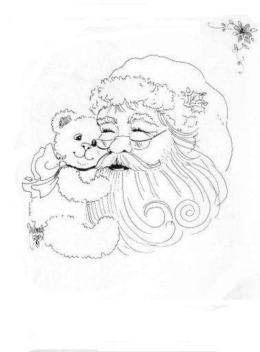 Rostos do Papai Noel para colorir-pai natal-navidad