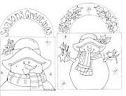 Desenhos de boneco de Neve Natalino para colorir