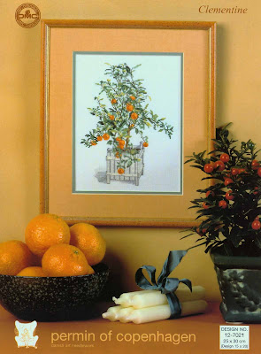 grafico ponto cruz laranjas