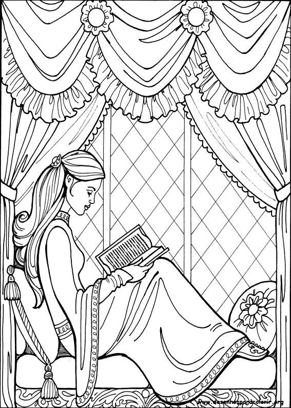 Desenhos para imprimir e colorir da princesa Leonora