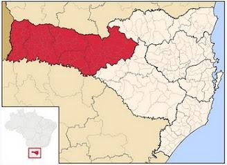 Mapa da Mesorregião Geográfica do Oeste de Santa Catarina