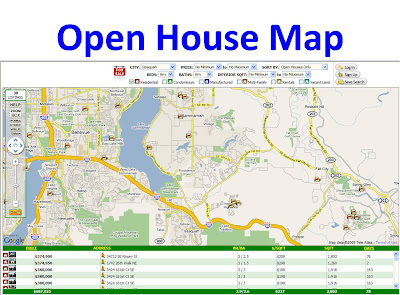 The Cascade Team Real Estate: Open House Map for Western ...