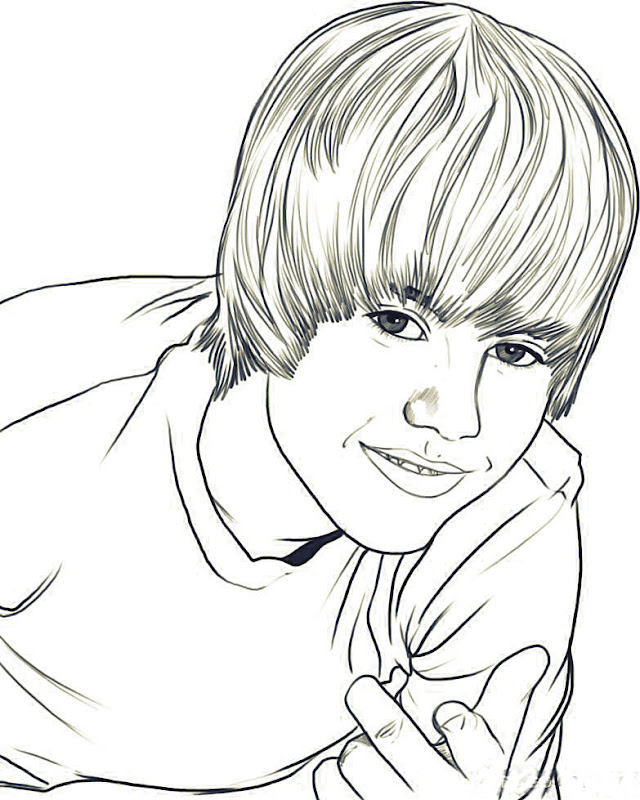 Coloring Pages of Justin Bieber
