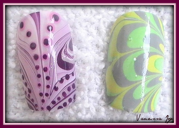 Water Marble Nail Art Designs