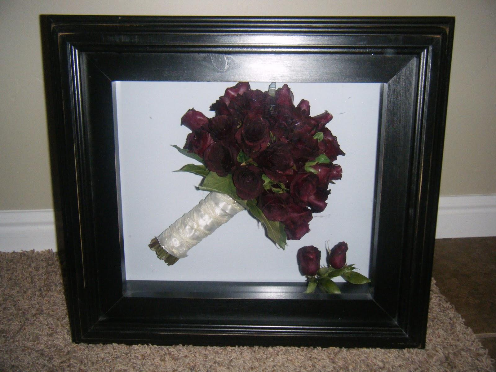 Humble Elegance: Shadow box bouquet
