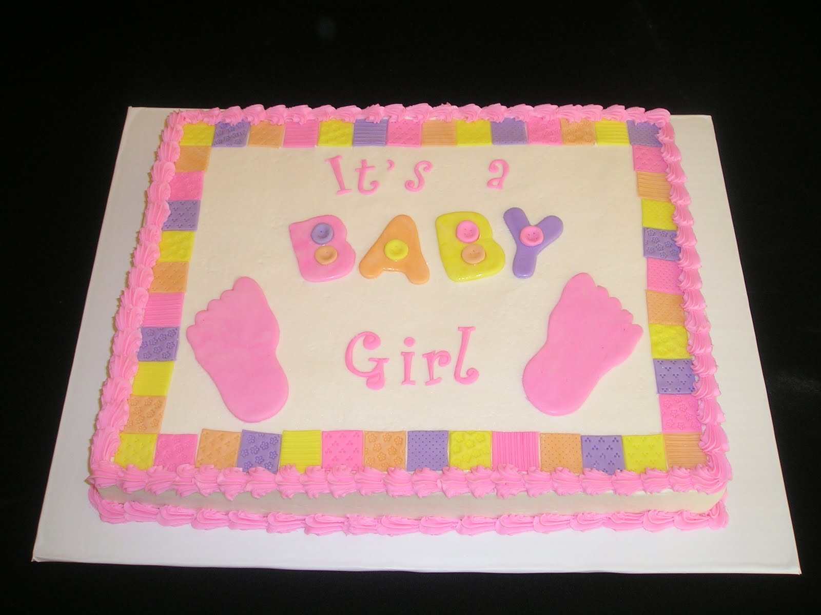 baby shower sheet cakes for twin girls 1 2 sheet yellow cake with
