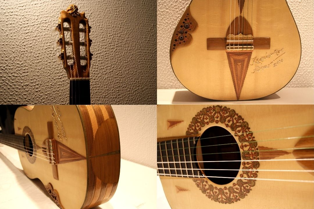 DETAILS OF THE ABOVE FINISHED KERTSOPOULOS GUITAR