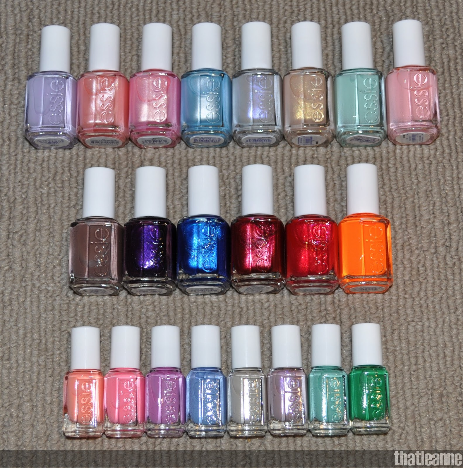 thatleanne: Essie Polish Collection! ... so far :-P