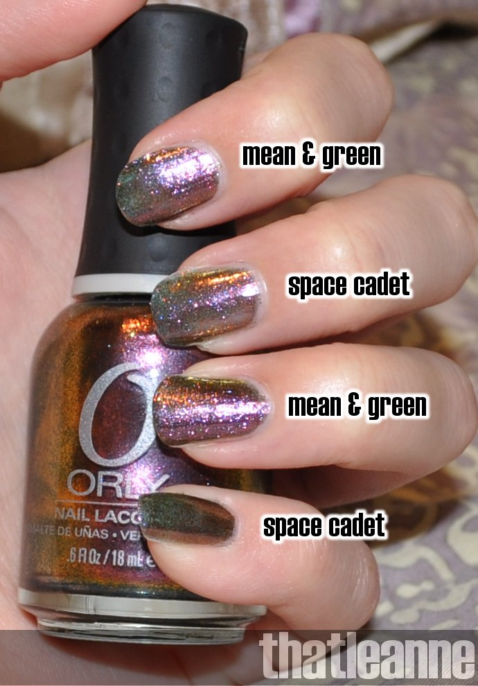 thatleanne: MAC Mean & Green vs. Orly Space Cadet