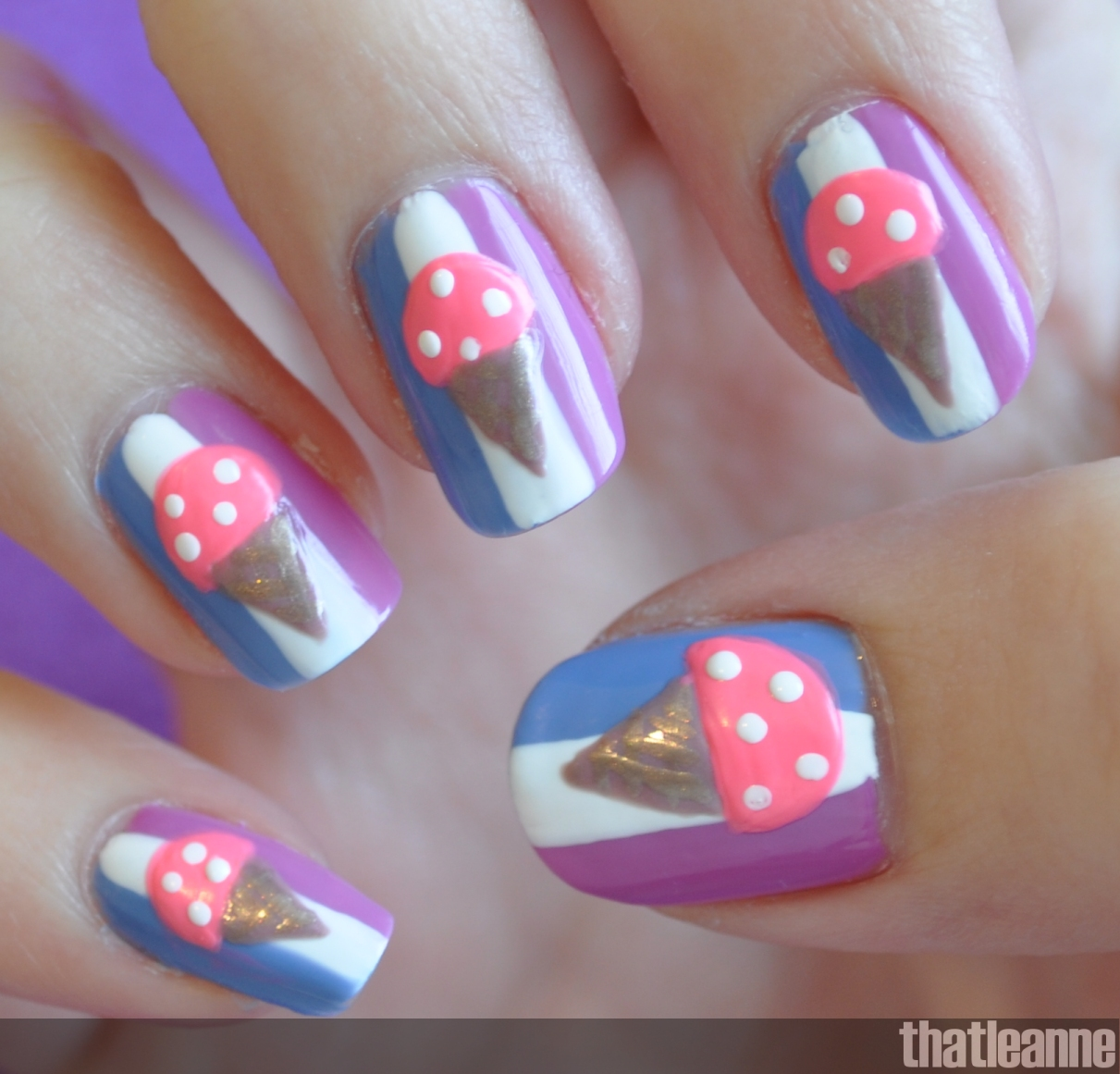 Ice Cream Nails: Thatleanne: Chill Out With Ice Cream Nails