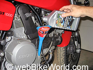Ducati Oil and Filter Change | Motorcycle Case