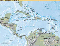 Political Map of Central America and the Caribbean, 2006