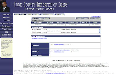 Cook County Document Number 00661600 - Trustees Deed $825,000 Tranferring Property from Lakeside Bank to Wondisfords