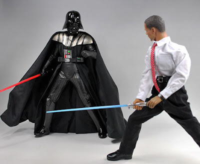 Obama Action Figure vs Darth Vader