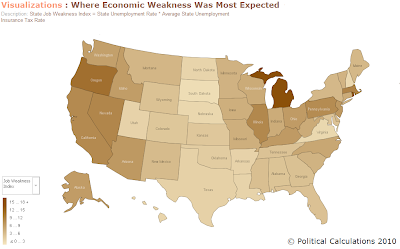 Where Economic Weakness Was the Most Expected, 2009