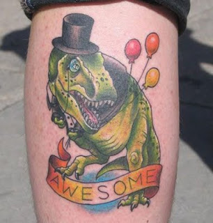 Awesome Dinosaur Tattoo