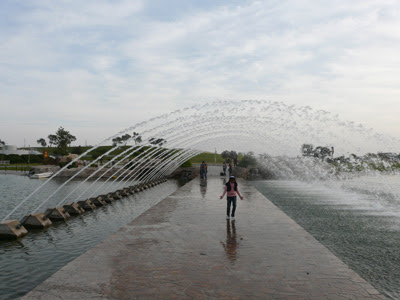 Cooling down in Aspire Park