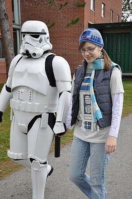 Hot Chick with Storm Troopers