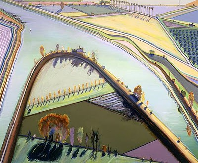 His most recent landscapes dating from the mid-1990s share many of the same  spatial and planar distortions seen in the cityscapes but utilise hotter  colour ... - ART & ARTISTS: Wayne Thiebaud (landscapes)