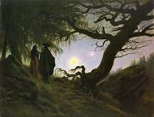 Un uomo e una donna davanti alla Luna (1819)