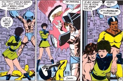 Bondage Cartoon superhero