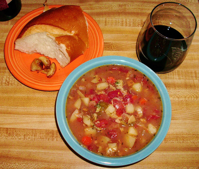 My Manhattan Clam Chowder....yum