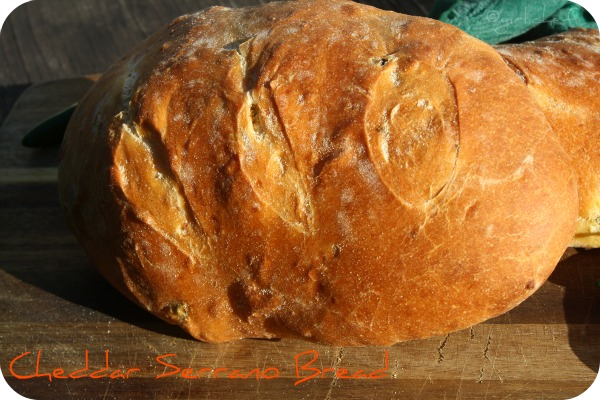 Cheddar Serrano Bread -----makes killer garlic toast!