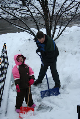 Shoveling with Daddy