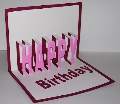 Susan Bluerobot HAPPY Birthday word pop up card plus pattern for – Happy Birthday Pop Up Cards