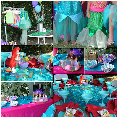 Ariel mermaid party favors birthday party ideas for Ariel birthday decoration ideas