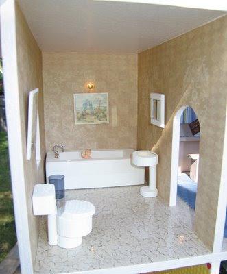 Nice Luxury Cabinet Toilet Tub Dollhouse Miniature Victorian Furniture Bathroom