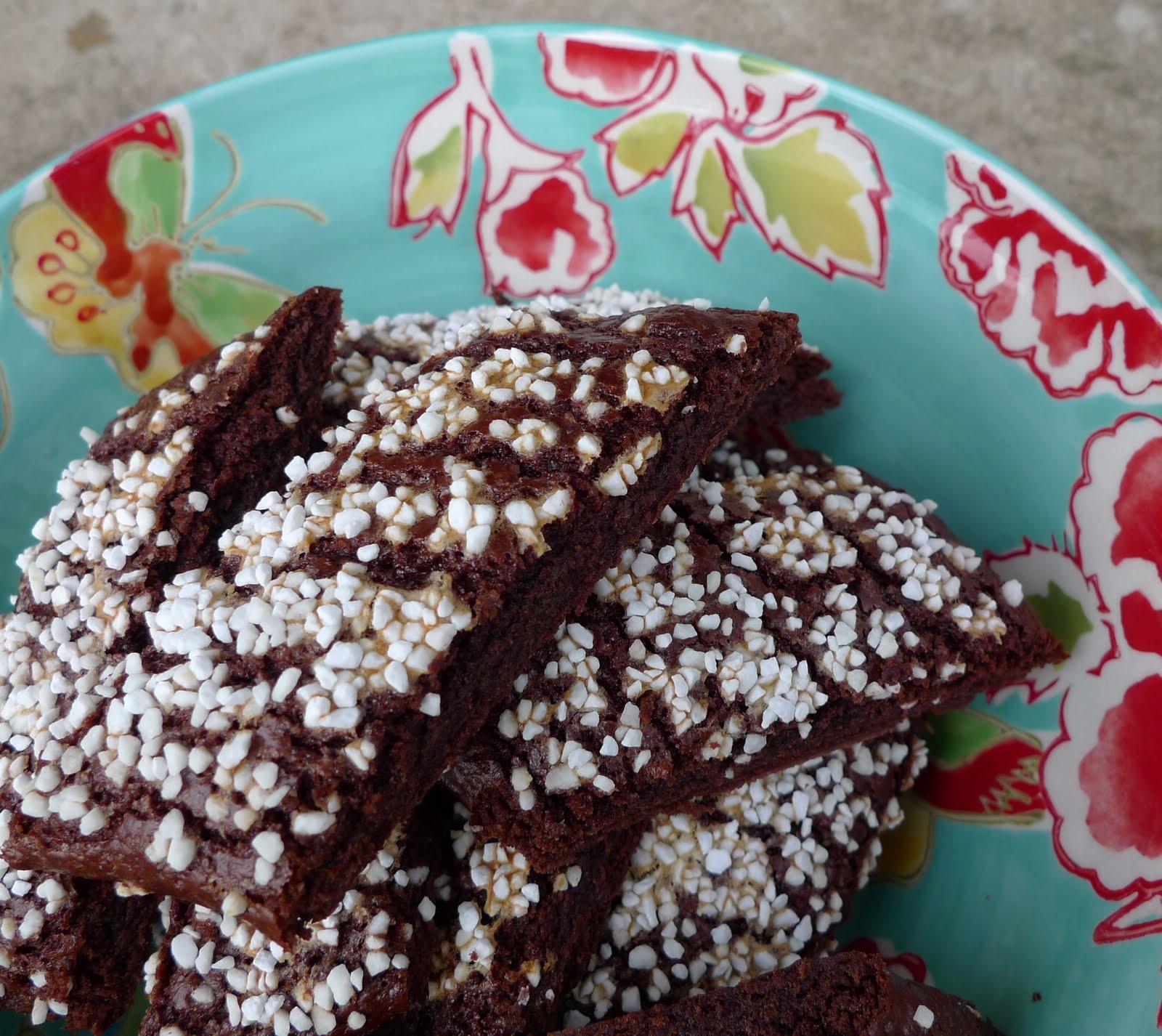 skurna chokladkakor med pärlsocker