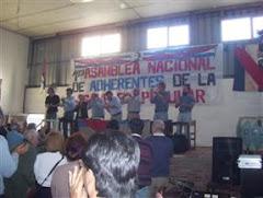 1º ASAMBLEA NACIONAL DE ADHERENTES DE LA ASAMBLEA PUPULAR - Montevideo 12/7/08