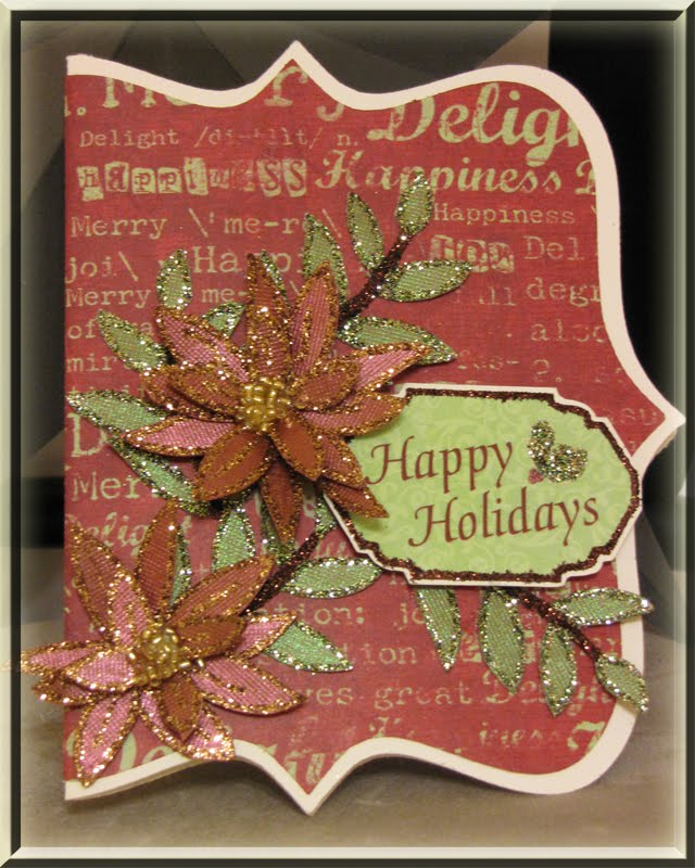 3D Poinsettia Christmas Card