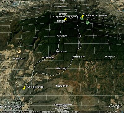 Ruta original planeada para la volanta en Cerro Viejo