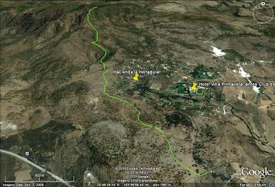 Ruta de ascenso al Cerro Los Bailadores