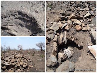 Tumbas de Tiro tapadas, rocas talladas y zona en ruinas de la zona arqueológica