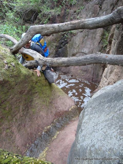 El primer chapuzón en el cañón