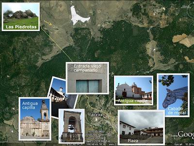 Mapa Tapalpa - Las Piedrotas