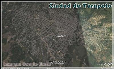 vista satelital de tarapoto