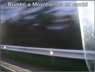 foto en movimiento de la carretera a moyobamba (peru)