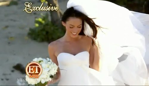 (though she's crazy) that Megan Fox is super fly in her wedding dress.