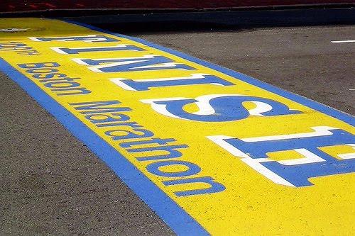 map of boston marathon route. map of oston marathon course.