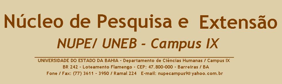 NUPE/ UNEB - Campus IX