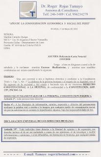 EXCUSAS RECTIFICATORIAS- ASUNTO :REFERENCIA CARTA NOTARIAL 15-03-2010