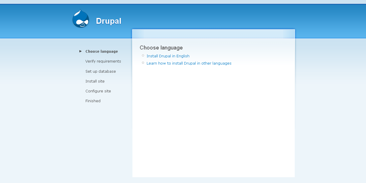 Tutorial for beginners lesson 1 introduction drupal click on install drupal in english baditri Gallery