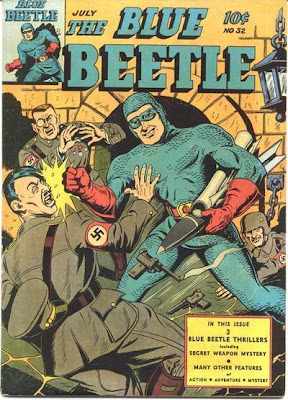 In an alternate, Alan-Moore-written tale, this is Hollis Mason punching a guy *dressed* like Hitler. Who gets off on this sort of thing.