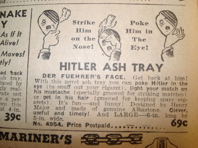 Surgeon General's Warning: Grinding a butt out on Hitler's face may be awesome to your health.