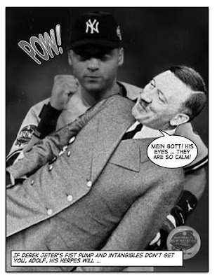 And with this, Jeter surpasses Lou Gehrig for most Hitler Punches by a New York Yankee on the all-time list.
